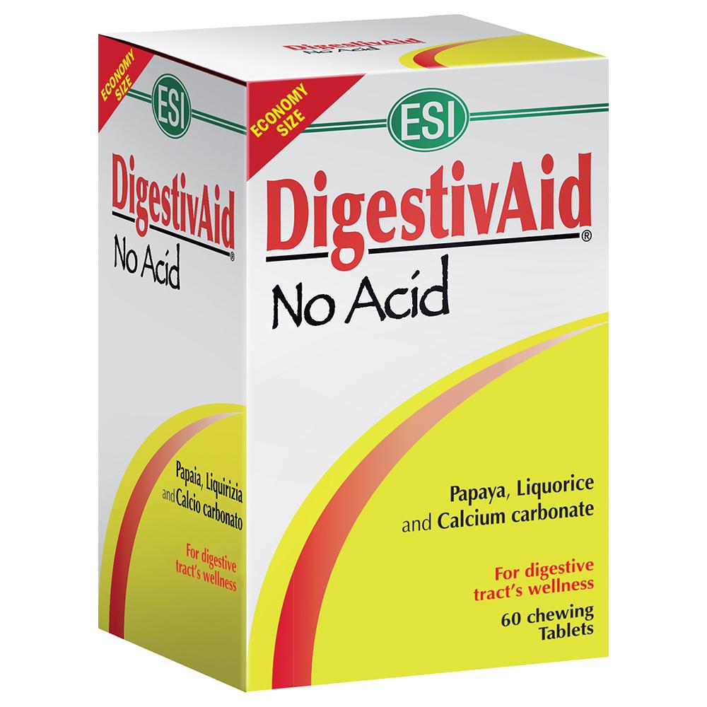 DigestivAid No Acid ESI: integratore naturale per favorire le fisiologiche funzioni dell'apparato digerente