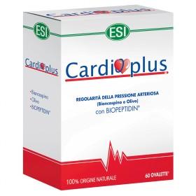 Cardioplus: integratore alimentare a base di Biancospino, Olivo e Biopeptidin in grado di regolarizzare la pressione arteriosa.