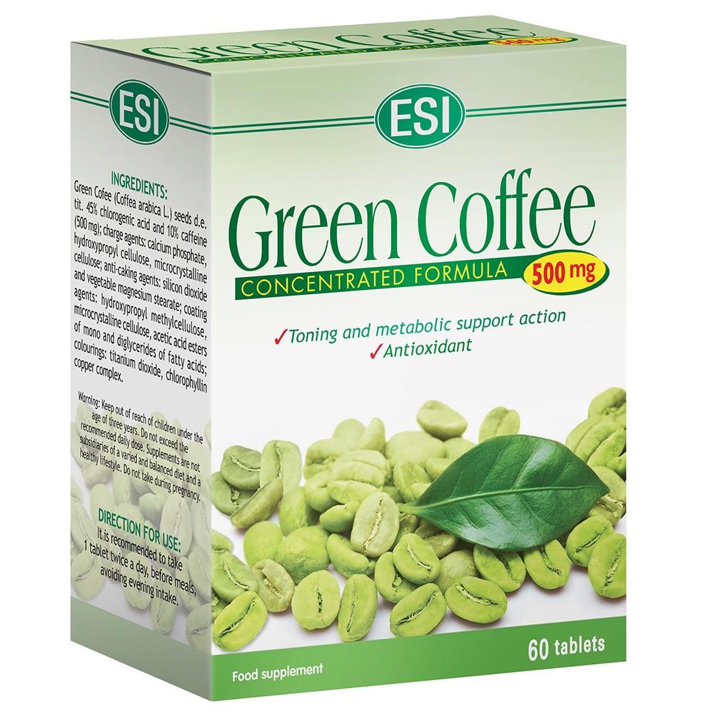 Caffè Verde 500 mg: Integratore naturale antiossidante e per il controllo del peso
