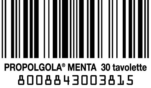 codice a barre propolgola alla menta