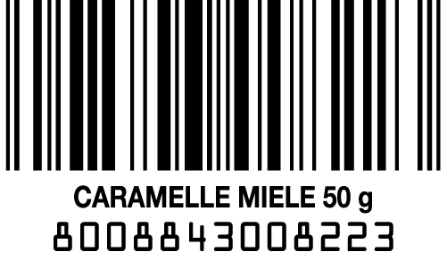 codice a barre caramelle al miele