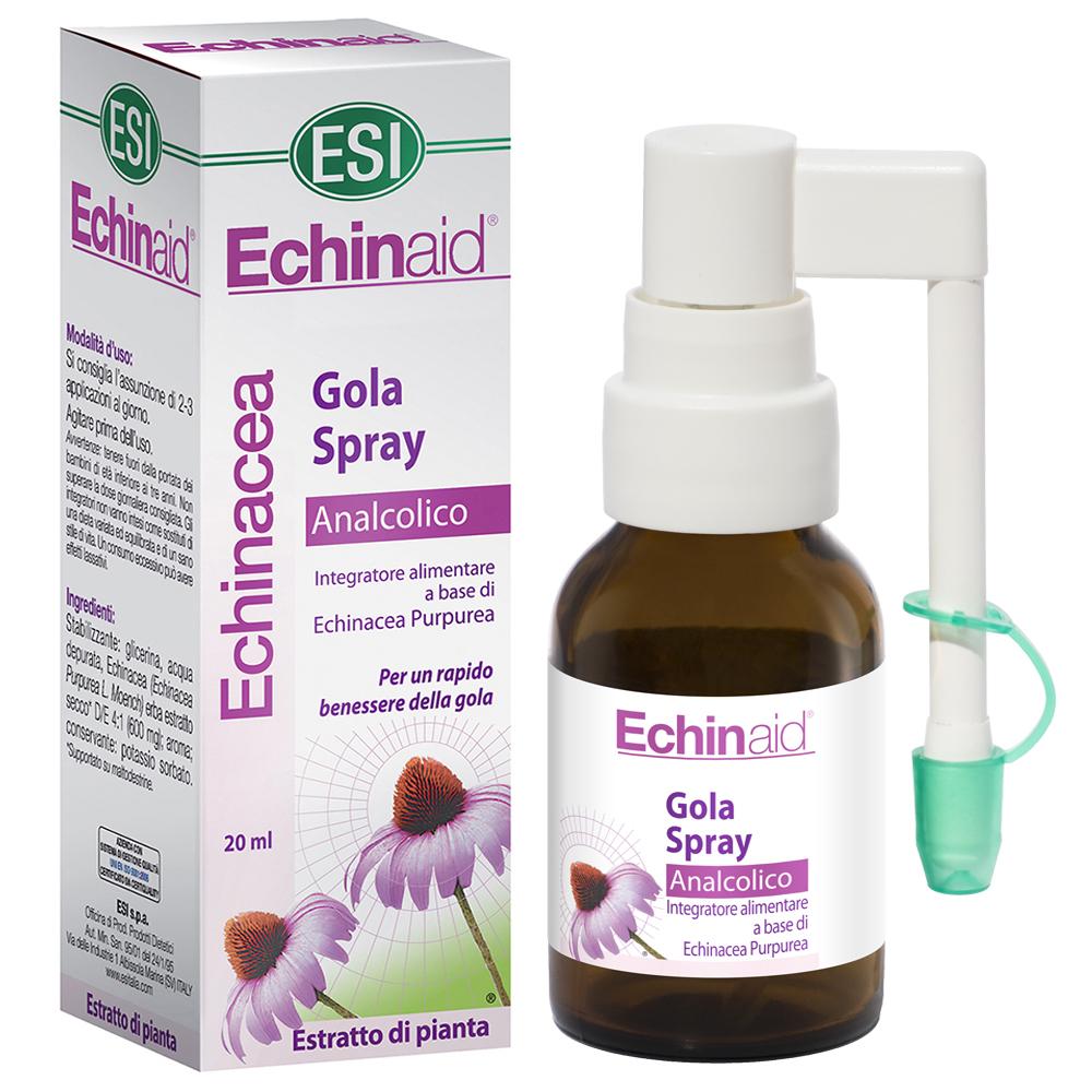 Spray analcolico per la gola all'Echinacea