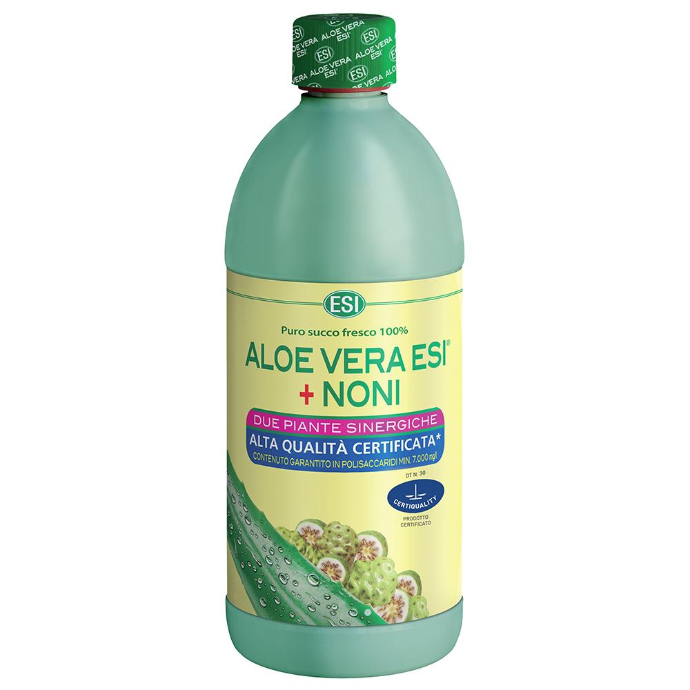 Succo di Aloe Vera con Noni per depurare l'organismo