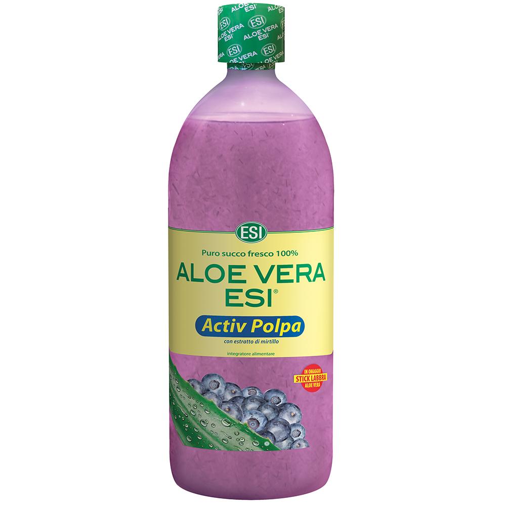 Aloe Vera ESI Active Polpa al Mirtillo per depurare l'organismo in profondità ed eliminare le tossine.